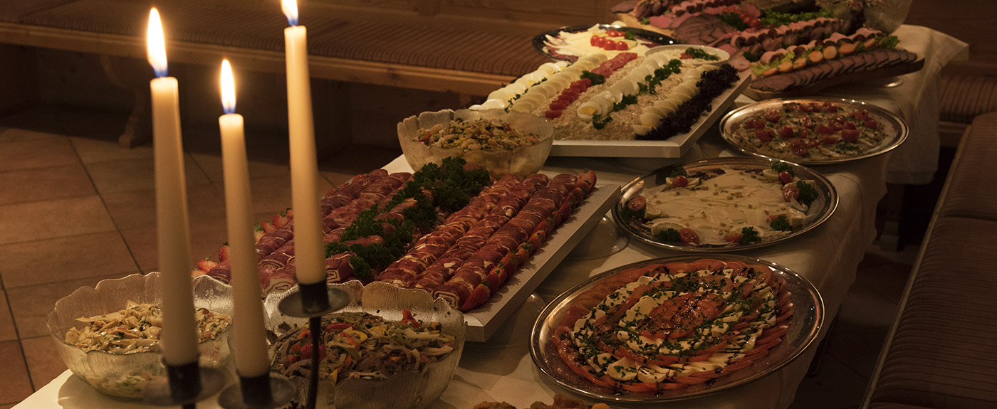 Breakfast buffet at Hotel Arnstein